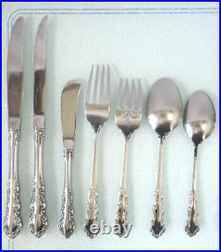 Oneida Heirloom SHELLEY Cube Mark Stainless 1 COMPLETE 7-PIECE PLACE SETTING