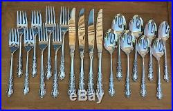 Oneida Heirloom Stainless Flatware SHELLEY 20 Piece Set Service for 4 Cube