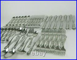 Oneida Hierloom Cube Mark DOVER Stainless Flatware Set Service for 12 EUC 68pc