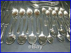 Oneida JULLIARD Stainless Flatware 59 Piece Set Cube Mark Service for 8 + Extras