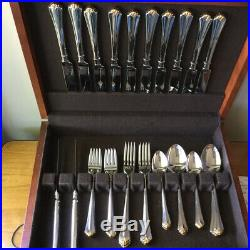Oneida Juilliard Gold Tip Cube Mark Stainless Flatware Set 71 Pieces