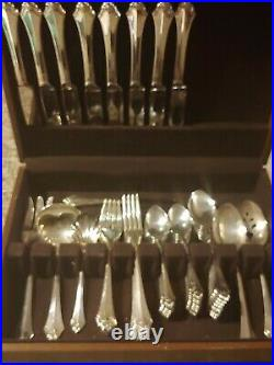 Oneida KENWOOD Stainless flatware. 53 Piece Set. Serving Pieces, Service for 7 +