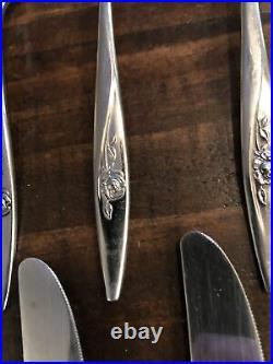 Oneida LASTING ROSE Stainless Oneidacraft Deluxe Glossy Flatware LOT Of 73