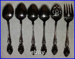 Oneida Louisiana Community Stainless Flatware lot 40 Serving Spoons Forks Knives