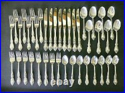 Oneida Louisiana Community Stainless Set for 8 40 pieces Knives Spoons Forks