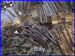 Oneida Ltd Needlepoint Stainless Silverware Flatware Set 65 Pc Set Forks Spoons+