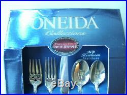Oneida MICHELANGELO Stainless Steel Flatware Set Service for 4 Open Box