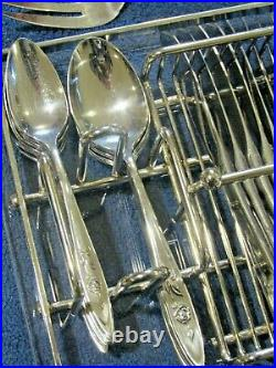 Oneida MY ROSE 46 Pc Stainless Flatware Set Service for 8 with BUFFET CADDY