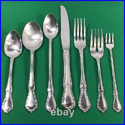 Oneida Mansion Hall Stainless Flatware Full Set Service for 12 +Hostess Complete