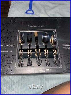Oneida Michelangelo 45 Piece Fine Flatware Set, Service for 8, 18/10 Stainless S