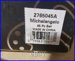 Oneida Michelangelo 45 Piece Stainless Flatware Utensil Set