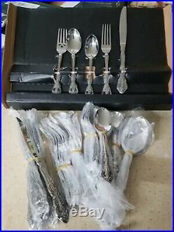 Oneida Michelangelo 45 Piece Stainless Silverware Flatware Set Service for 8