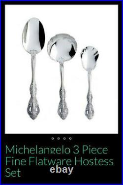 Oneida Michelangelo 46 Piece Fine Flatware Set Service for 8 NEW 18/10 Stainless