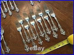 Oneida Michelangelo Cube Stainless Flatware Lot 60 Pieces Dinner Forks Spoon +++