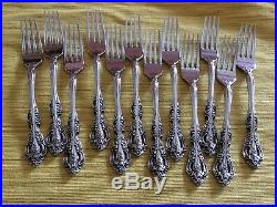Oneida Michelangelo stainless Cube USA flatware. Set of 72 pieces
