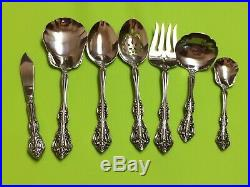 Oneida Michelangelo stainless cube USA flatware set of 67 pieces