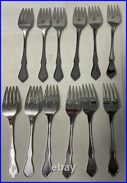 Oneida Morning Blossom Profile Stainless 64 Piece Burnished Handle Flatware
