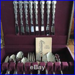 Oneida Mozart Deluxe Stainless Flatware Set Of 45 Pcs Nos