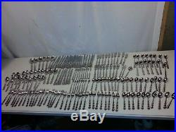 Oneida Mozart Pattern Deluxe Stainless 169 piece lot
