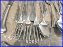 Oneida Northland Post Road Stainless Flatware 5 Piece Setting Service For 6