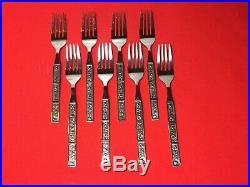 Oneida Northwood Stainless Spring Fever Silverware Set Korea 8 Setting 70 Pieces