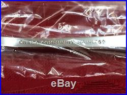 Oneida Patrick Henry Community stainless USA 21 pieces New