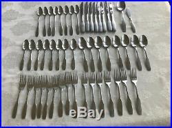 Oneida Paul Revere community stainless flatware 50 pieces-VGUC