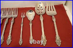 Oneida REMBRANDT Heirloom Cube Stainless Flatware Set 55 Pieces