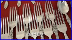 Oneida REMBRANDT Heirloom Cube Stainless Flatware Silverware 61pc Set 2nd Qlty