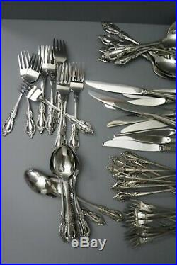 Oneida Raphael Distinction Deluxe HH Stainless Flatware 77pcs Serves 10