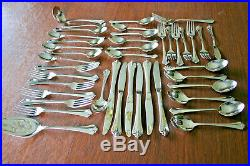 Oneida Royal Flute Community Stainless 42 Pieces Service For 6