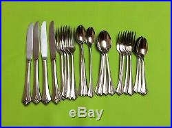 Oneida Royal Flute Community Stainless flatware Four- 6 pc place settings