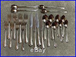 Oneida Royal flute community stainless flatware 24 pieces
