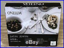 Oneida Satin Lewin 18/10 Stainless 64 Pc Flatware Silverware Set