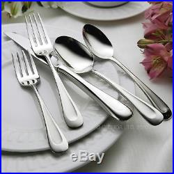 Oneida Satin Sand Dune Stainless Steel 65-Piece Flatware Set Service For 12