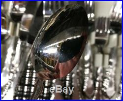Oneida Satinique Community Stainless Service For 12 Plus Serving Fork