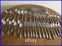 Oneida Sheraton Cube Stainless Flatware Set 53 Pieces Service For 8 Plus Serv
