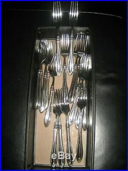 Oneida Sheridan Made In USA 12 Place Flatware Set With 12 Serving Pieces