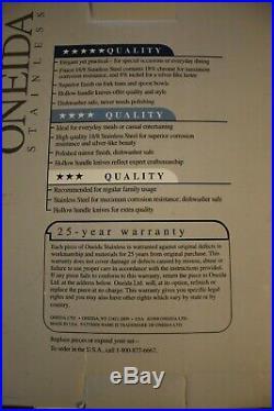 Oneida Stainless AMERICAN HARMONY ARBOR 20 Piece Service for 4 Unused 18/8 USA
