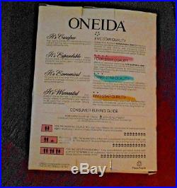 Oneida Stainless ARBOR ROSE 18/8 USA 45 Piece Service for 8 Unused TRUE SONG