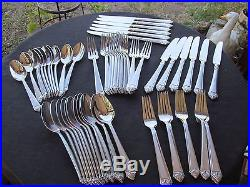 Oneida Stainless Bianco W Frost Satin Handles 60 Piece Service For 12
