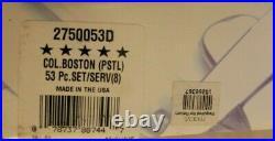 Oneida Stainless COLONIAL BOSTON 18/8 USA 53 Piece Service 8 w Pistol Knives
