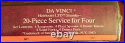 Oneida Stainless DA VINCI 20 Piece Service for 4 Unused USA Flatware Cube