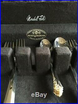 Oneida Stainless Damask Rose Service for 12 Set with Gold Accent