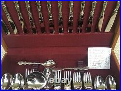Oneida Stainless Delux Mozart Flatware 65 Pieces Setting For 12 Mint
