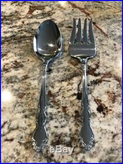Oneida Stainless Dover Pattern 5 Place Settings, Serving Fork & Spoon with Box