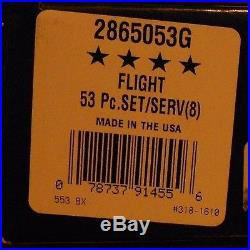 Oneida Stainless FLIGHT aka RELIANCE 18/8 USA 53 Piece Service for 8 Unused