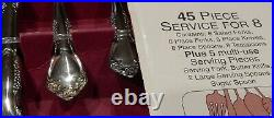 Oneida Stainless Flatware 45 PC Set Woodcrest New OLD STOCK READ