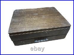 Oneida Stainless Flatware 69 Pc set Heirloom Silverware Cube Mark W Case Flowers