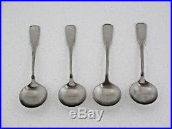 Oneida Stainless Flatware Heirloom American Colonial 4 Cream Soup Spoons 5 3/4